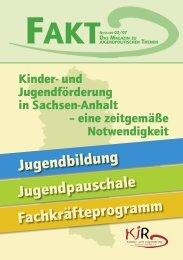 Kinder- und Jugendförderung in Sachsen-Anhalt