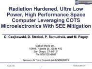 Radiation Hardened, Ultra Low Power, High Performance Space ...