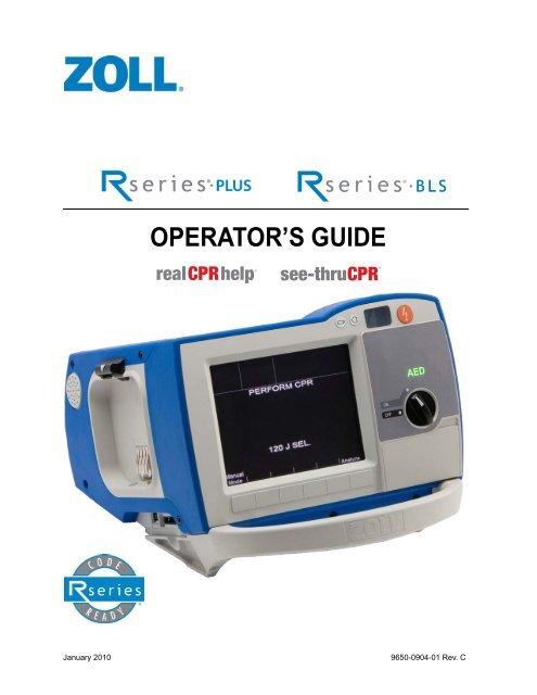 Zoll R Plus - Operator U0026 39 S Guide Pdf