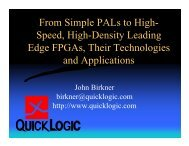 From Simple PALs to High- Speed, High-Density Leading Edge ...