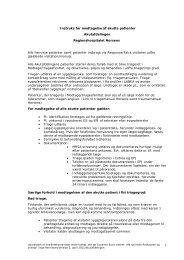 instruks for modtagelse af akutte patienter.pdf - e-Dok