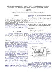 Comparison Of The Radiation Hardness of the Dielectric Isolation ...
