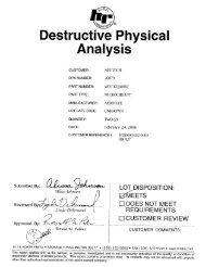 Physical Analysis (DPA) Aeroflex Eclipse