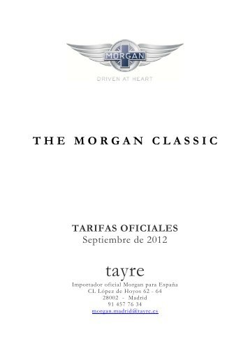 tayre - The Morgan Motor Company