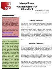 Newsletter 01/2011 - Klaus Schneck