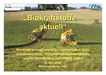 """Vortrag: """"Biokraftstoffe aktuell"""" - Klaus Schneck"""