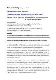 Pressemitteilung, 10. September 2007 - Klaus Schneck