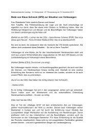 Rede zur Situation von Volkswagen - Klaus Schneck