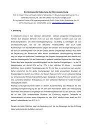 Die ökologische Bedeutung der Biomassenutzung - Klaus Schneck