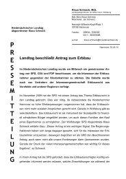Download Pressemitteilung - Klaus Schneck