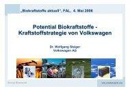 Potential Biokraftstoffe - Kraftstoffstrategie von ... - Klaus Schneck