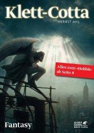 Neuerscheinungen Fantasy Sommer/Herbst 2013 - Klett-Cotta
