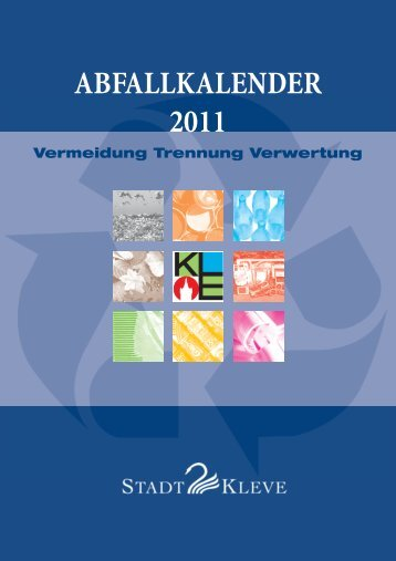 ABFALLKALENDER 2011 - in Kleve