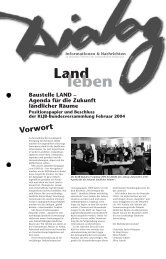 Baustelle LAND - Agenda für die Zukunft Ländlicher Räume - KLJB