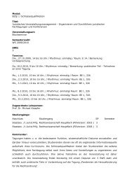 Eintrag in das Vorlesungsverzeichnis - Prof. Dr. Michael Kloepfer