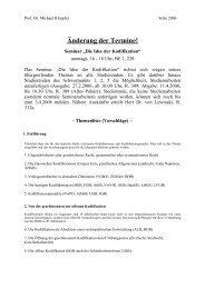 Seminarplan - Prof. Dr. Michael Kloepfer