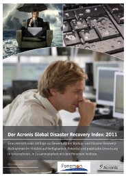 Der Acronis Global Disaster Recovery Index: 2011 - aobis