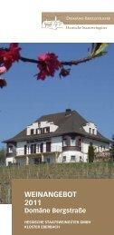 Weinangebot 2011 - Kloster Eberbach