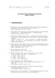 schriftenverzeichnis - Prof. Dr. Michael Kloepfer - Humboldt ...