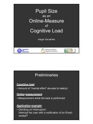 Pupil Size Online-Measure Cognitive Load