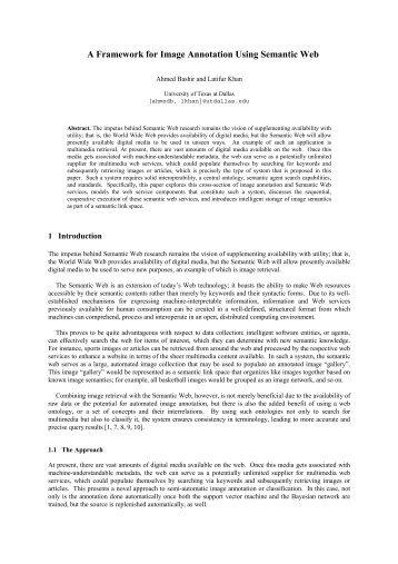 A Framework for Image Annotation Using Semantic Web