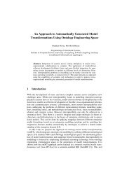 An Approach to Automatically Generated Model Transformations ...