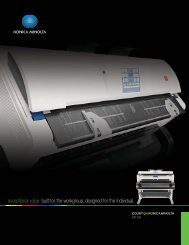 exceptional value: built for the workgroup, designed ... - Konica Minolta