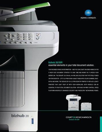 bizhub 20/20P: essential elements in your total ... - Konica Minolta