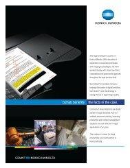 bizhub benefits: the facts in the case. - Konica Minolta