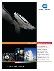 bizhub benefits healthcare applications - Konica Minolta