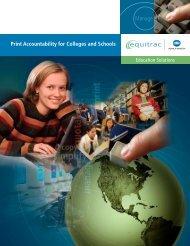 Print Accountability for Colleges & Schools - Konica Minolta