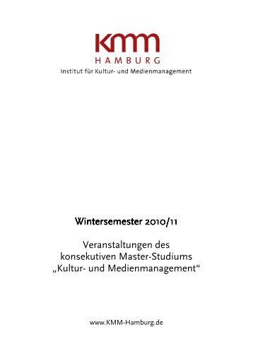 Wintersemester 2010/11 Wintersemester 2010/11 Veranstaltungen ...