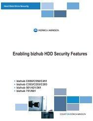 Enabling bizhub HDD Security Features - Konica Minolta