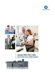 SECTION 508 COMPLIANCE - Konica Minolta
