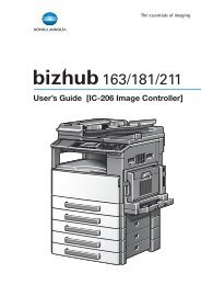 User's Guide [IC-206 Image Controller] - Konica Minolta