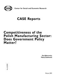 CASE Reports Competitiveness of the Polish Manufacturing Sector