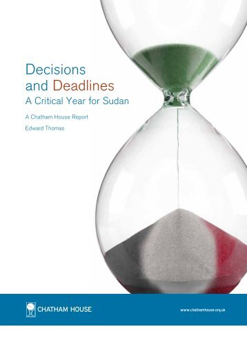 Decisions and Deadlines: A Critical Year for Sudan