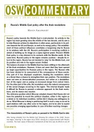 Russia's Middle East Policy After the Arab Revolutions
