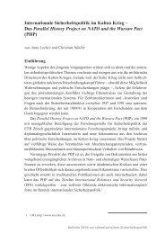 Internationale Sicherheitspolitik im Kalten Krieg – Das ... - ETH Zürich
