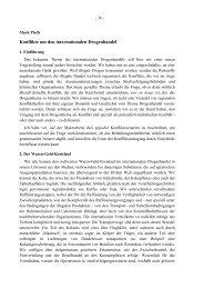Konflikte um den internationalen Drogenhandel - ETH Zürich