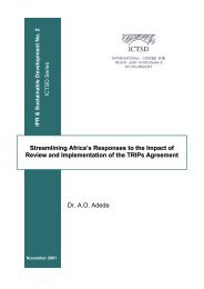 Streamlining Africa's Responses to the Impact of Review and ...