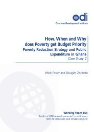 How, When and Why Does Poverty Get Budget Priority? Poverty ...