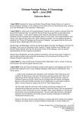 Chinese Foreign Policy: A Chronology - Page 2