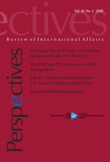 Perspectives: Review of International Affairs Vol 16 No 2 (2008)