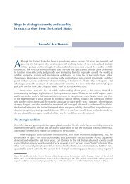 Steps to strategic security and stability in space: a view from the ...