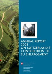 Annual Report 2008 on Switzerland's Contribution to EU Enlargement