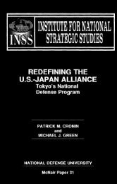 REDEFINING THE US-JAPAN ALLIANCE: Tokyo's National Defense