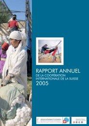 Rapport annuel de la coopération internationale de la Suisee 2005