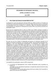 Programme de partenariat individuel entre la suisse et l'otan pour ...