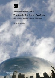 The World Bank and Conflicts